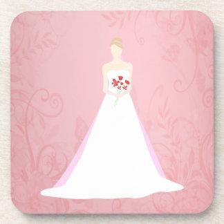 Beautiful Bride Wedding Beverage Coaster