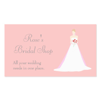 Beautiful Bride Wedding Business Cards