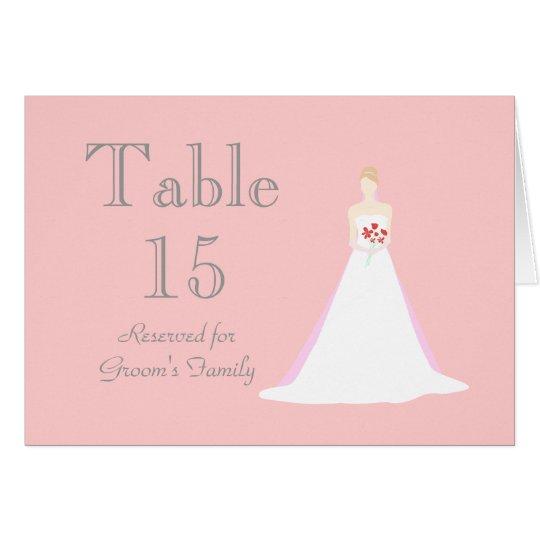 Beautiful Bride Wedding Table Seating Name Card