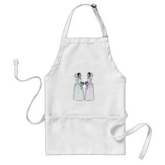 Beautiful Brides in Love Adult Apron