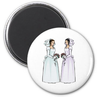 Beautiful Brides in Love Refrigerator Magnet
