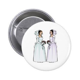 Beautiful Brides in Love Pinback Button