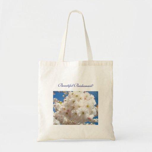 Beautiful Bridesmaid! Tote Bag Flower Blossoms
