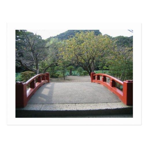 Beautiful bridge in Japan. Postcard