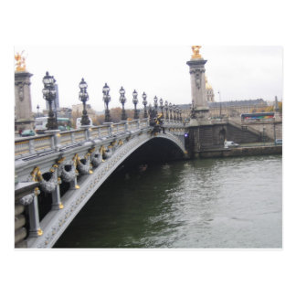 Beautiful Bridge in Paris, France Postcard