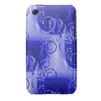 Beautiful Bright Blue Spring Floral Vines Swirls Case-Mate iPhone 3 Cases
