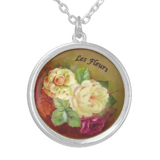 Beautiful Bright Bouquet Silver Plated Necklace