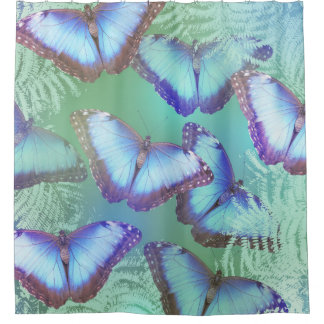 Curtains Ideas butterfly shower curtain : Bright Butterfly Shower Curtains | Zazzle