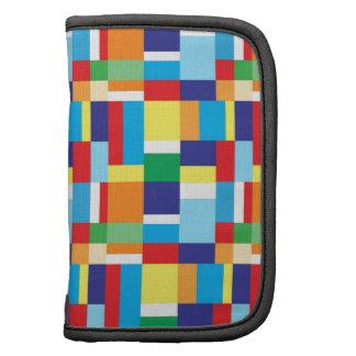 Beautiful Bright Colorful Blocks Plaid Squares Organizer
