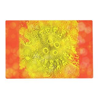 Beautiful Bright Colorful Zen Doodle Bokeh Pattern Placemat