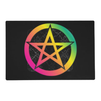 Beautiful bright pentacle placemat