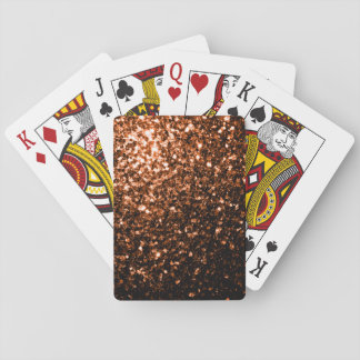 Beautiful Bronze Orange Brown glitters sparkles Playing Cards