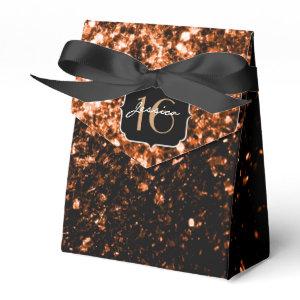 Beautiful Bronze sparkles  favor box