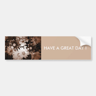 Beautiful brown and white floral design. bumper sticker