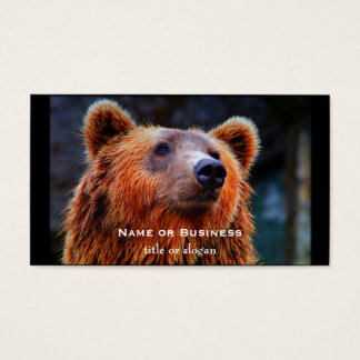 Beautiful Brown Bear Portrait Wildlife Photo Business Card