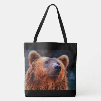 Beautiful Brown Bear Portrait Wildlife Photo Tote Bag