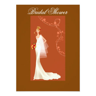 Beautiful Brown Bridal Shower Invitation