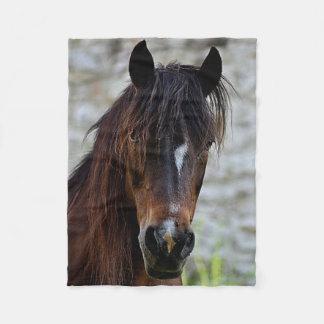 Beautiful Brown Horse Fleece Blanket