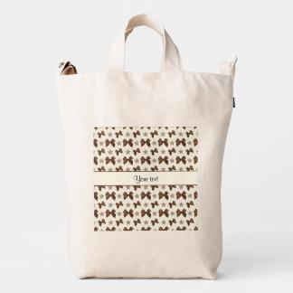 Beautiful Brown Satin  Bows Duck Bag