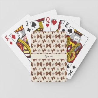 Beautiful Brown Satin  Bows Playing Cards