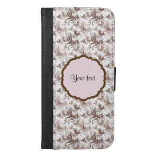 Beautiful Brown Swirly Butterflies iPhone 6/6s Plus Wallet Case