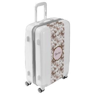 Beautiful Brown Swirly Butterflies Luggage