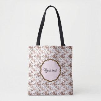 Beautiful Brown Swirly Butterflies Tote Bag