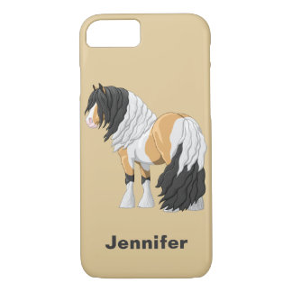 Beautiful Buckskin Pinto Gypsy Vanner Draft Horse iPhone 8/7 Case