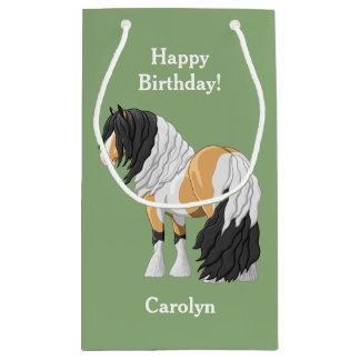 Beautiful Buckskin Pinto Gypsy Vanner Draft Horse Small Gift Bag