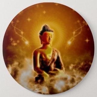 Beautiful buddha pinback button