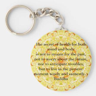 Beautiful Buddhist Quote with Vibrant Mandela Keychain