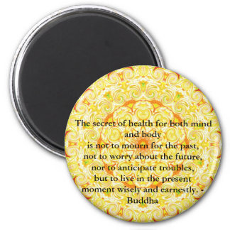 Beautiful Buddhist Quote with Vibrant Mandela Magnet