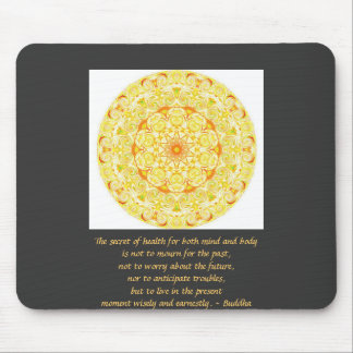 Beautiful Buddhist Quote with Vibrant Mandela Mouse Pad