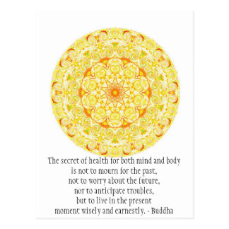 Beautiful Buddhist Quote with Vibrant Mandela Postcard