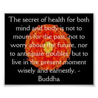 Beautiful Buddhist Quote with Vibrant Mandela