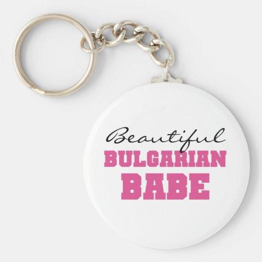Beautiful Bulgarian Babe Keychains