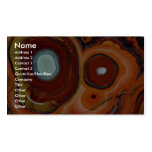 Beautiful Bull's eyes in Mexican agate Double-Sided Standard Business Cards (Pack Of 100)
