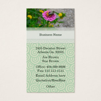 Beautiful Bumble Bee Business Card