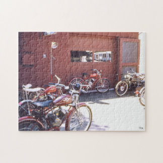 Beautiful Bunch of Vintage Motorized Bicycle Jigsaw Puzzle