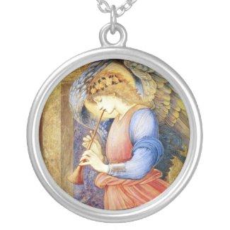 Beautiful Burne-Jones Angel Pendant Necklace