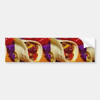 Beautiful Burrito recipe for food lovers Car Bumper Sticker