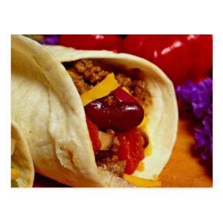 Beautiful Burrito recipe for food lovers Postcard