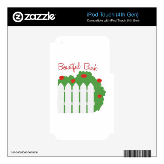 Beautiful Bush iPod Touch 4G Decals