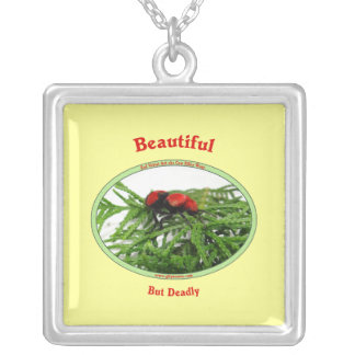Beautiful But Deadly Cow Killer Wasp Custom Necklace