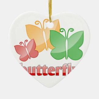 Beautiful butterfies ceramic ornament