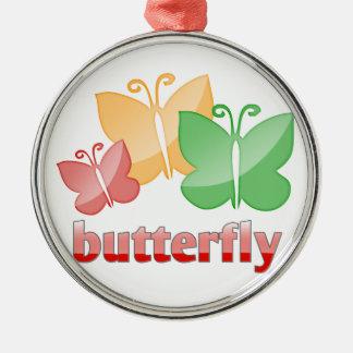 Beautiful butterfies metal ornament