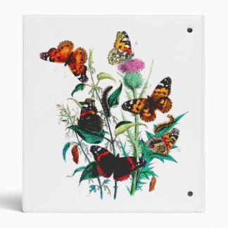 Beautiful Butterflies 3 Ring Binder