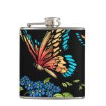 Beautiful Butterflies Art Customizable background Hip Flask