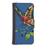 Beautiful Butterflies Art Customizable background iPhone 5 Wallet Cases