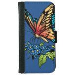 Beautiful Butterflies Art Customizable background iPhone 6 Wallet Case